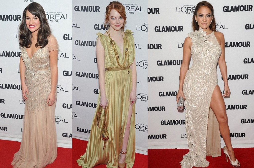 The best of it: Lea Michele, Emma Stone, and Jennifer Lopez at the Glamour Women of the Year Awards