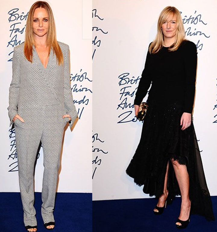 Red Carpet Award Winner, Stella McCartney and Designer of the Year Sarah Burton for Alexander McQueen