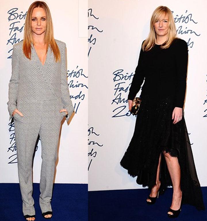 Red Carpet Award Winner, Stella McCartney and Designer of the Year Sarah Burton for Alexander McQueen
