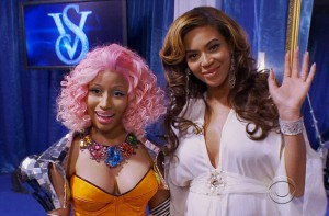 Nicki Minaj backstage with Beyonce