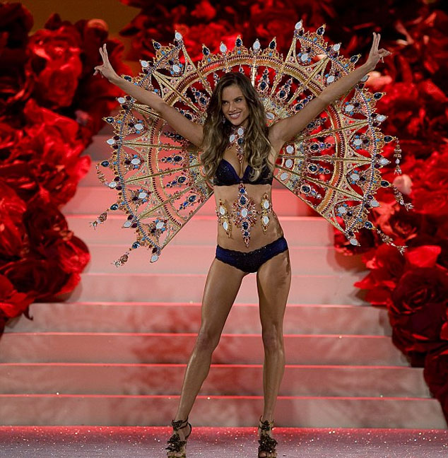 Alessandra wore the 'Passion Play wings' in the show which are reported to have taken seven years to make