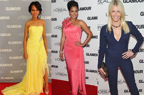 The worst of it: Kerry Washington, LaLa, and Chelsea Handler at the Glamour Women of the Year Awards