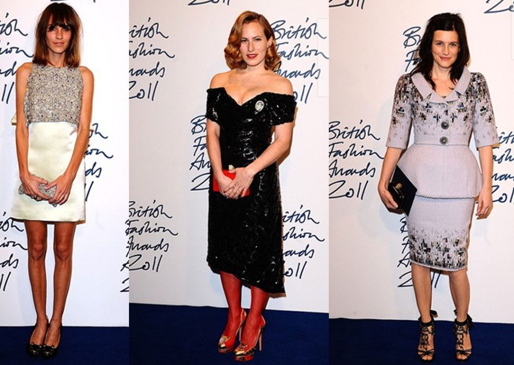 Voted by Vodaphone Users for the British Style Award was winner Alexa Chung, Accessory Designer winner Charlotte Olympia and Tabitha Simmons, winner of the Emerging Talent Award for Accessories