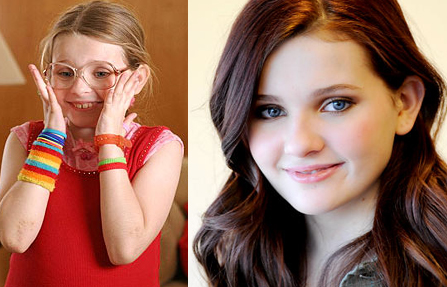 Abigail Breslin in Little Miss Sunshine and now