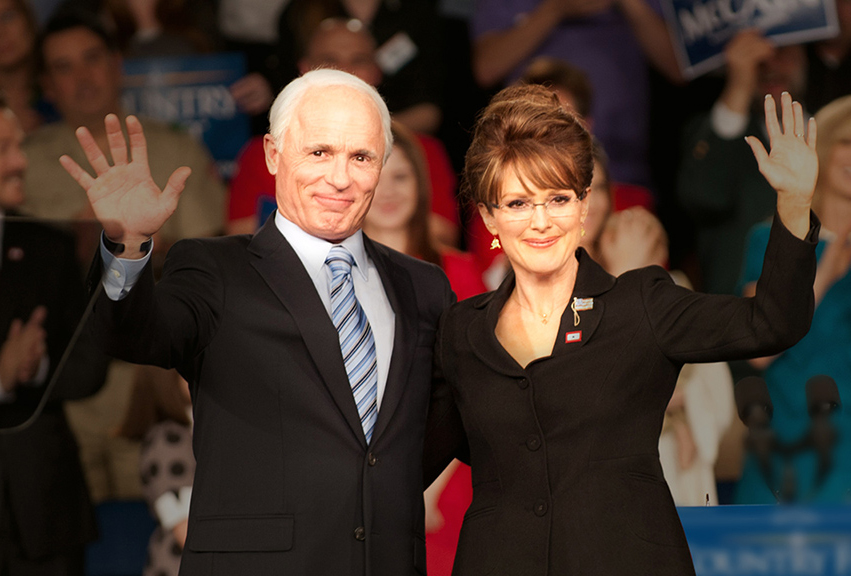 Ed Harris as McCain and Julianne Moore as Palin