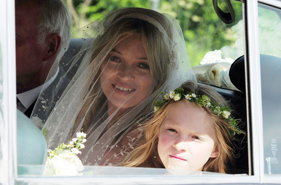 Kate Moss with Lila Grace at her wedding