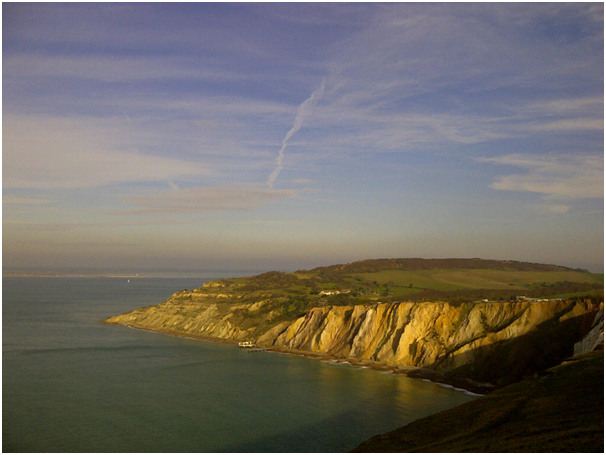 The view on the approach to the Needles