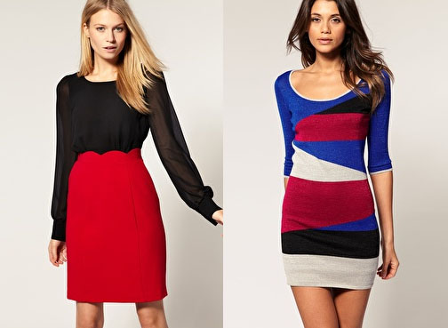 Oasis 2 In 1 Dress £65.00 and ASOS Dress In Metallic Colour Block £33.50