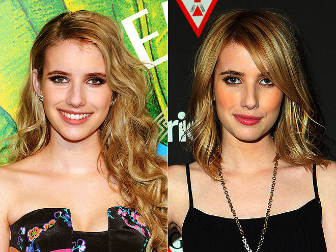 Emma Roberts stayed true to her blonde roots, but cut off her hair for a modern bob