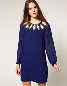 Warehouse Petal Keyhole Dress available at ASOS