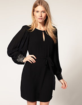Oasis Embellished Cuff Keyhole Tunic available at ASOS