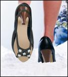 Avoid icey stiletto slip ups this winter with the new AA's new high heel snow grips