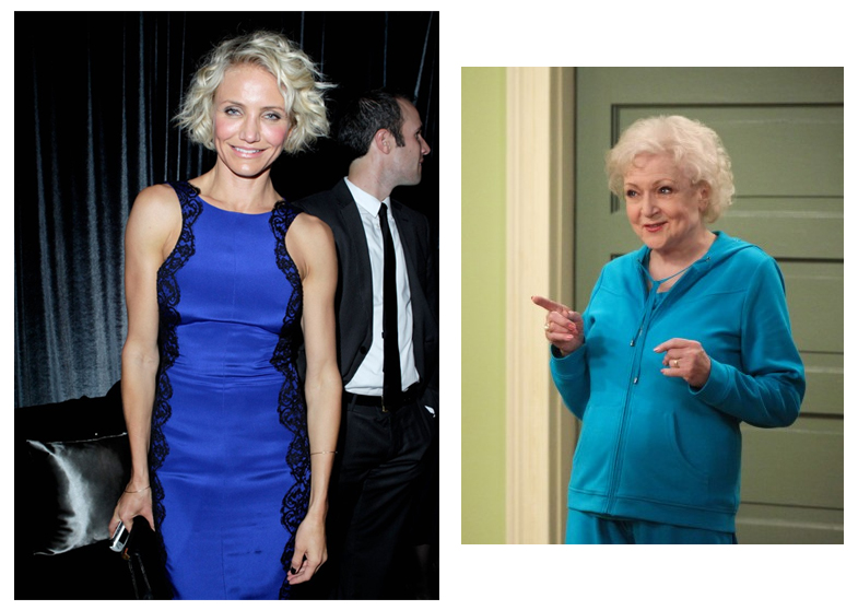 Cameron Diaz and Betty White