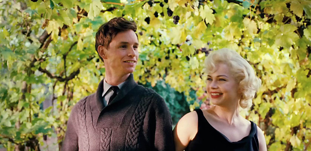 Eddie with Michelle Williams in My Week With Marylin