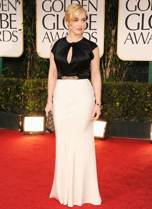 Kate Winslet in Jenny Packham for 2012 Golden Globes