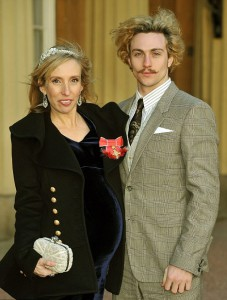 Sam Taylor Wood and Aaron Johnson at Buckingham Palace last month