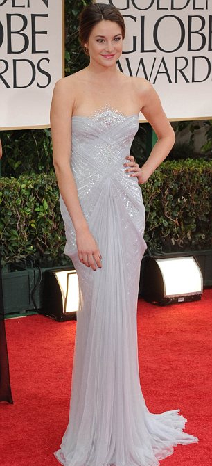 Shailene Woodley at the Golden Globes