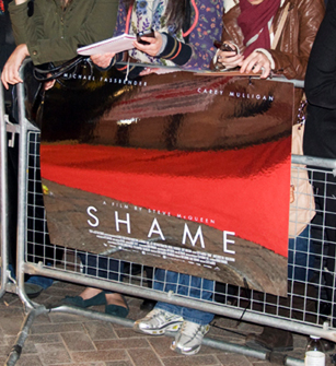 The mirrored Shame poster (available signed)