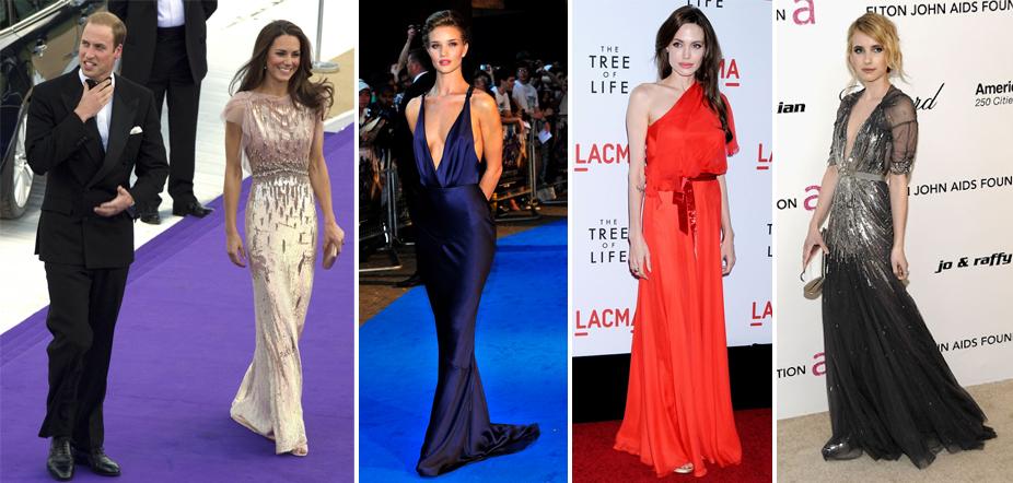 celebrities wearing jenny packham