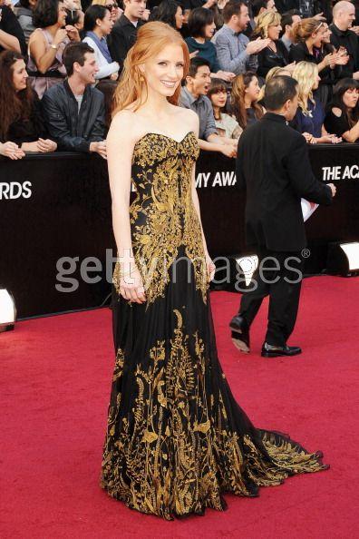 Jessica Chastain Oscars 2012