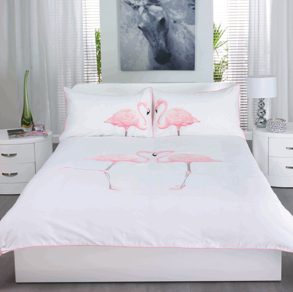 flamingo bed linen beauty and the dirt