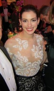 Anne Hathaway  Kennedy Center Honours Make up by Adam Breuchaud