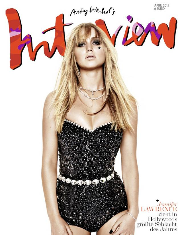 Jennifer Lawrence covers INTERVIEW Germany in April.