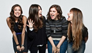 Cast of &quot;Girls&quot; from left: Allison Williams, Zosia Mamet, Lena Dunham and Jemima Kirke