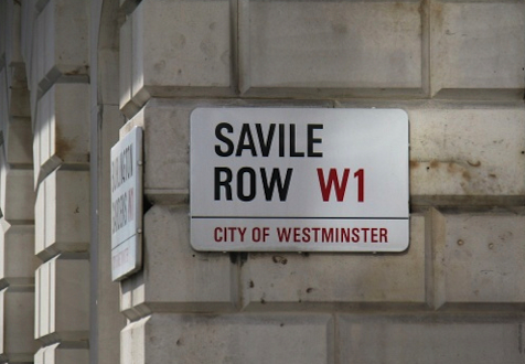 <b>A Row in Savile Row...</b>