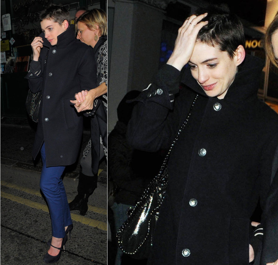Anne Hathaway Debuts Pixie Haircut For Upcoming Film Les Miserables