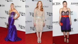 Laura Bell Bundy, Jessica Chastain, Amanda Seyfried