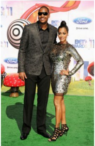 Carmelo Anthony and wife Lala