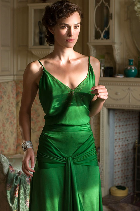 Keira Knightley in that gorgeous dress in Atonment