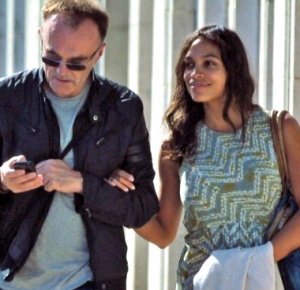 Danny Boyle with girlfriend Rosario Dawson
