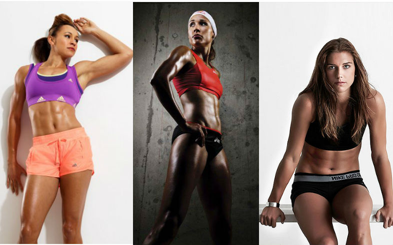Alex Morgan Abs Lolo jones, alex morgan
