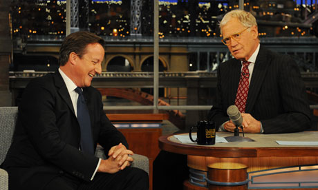 David Cameron on the Letterman show