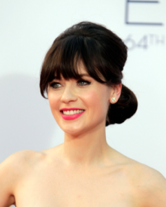 Zooey Deschanel at the 2012 Emmy's