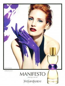 Jessica Chastain for YSL&#039;s Manifesto Fragrance