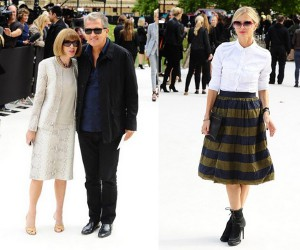 Anna Wintour, Mario Testino and Laura Bailey