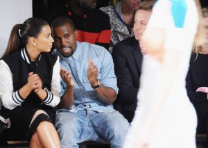 Kimye deep in discussion on the FROW