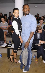 Kanye West and Kim Kardashian on the FROW