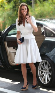 The Duchess Of Cambridge in Sarah Burton for Alexander McQueen