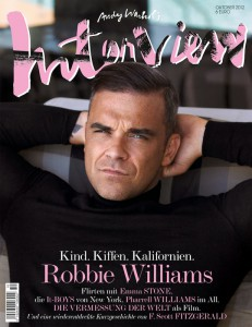 Robbie Williams on cover of Interview, Germany