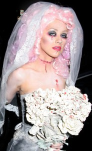 Christina Aguilera as a Zombie Bride