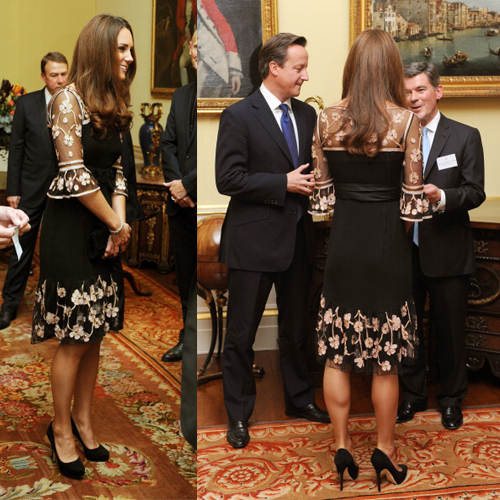 71f797dfb04d Kate Middleton Wears Alice Temperley To GB Olympic Medalist Royal ...
