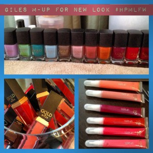 Giles Gold for New Look Make Up Collection