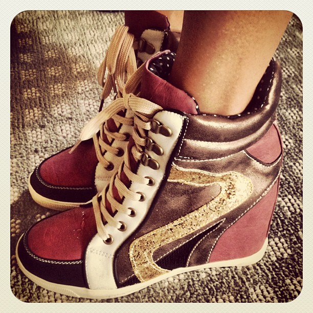 New Look High Top Wedg Sneakers