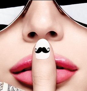 Movember Moustache Nail Wraps
