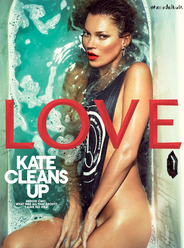 <b>Kate Moss In A Bath ...</b>