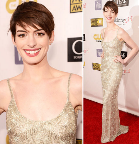 Anne Hathaway at Critics' Choice Awards